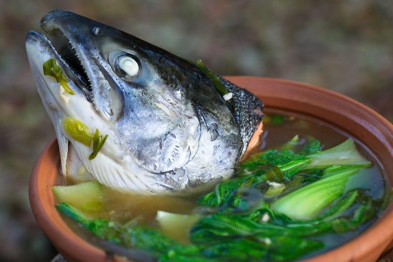 Fish head soup filipino style fastpaleo for Salt fish head