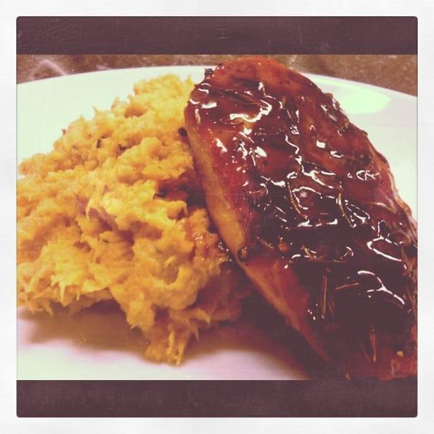 Rosemary Chicken with Orange Maple Syrup Glaze & Mashed ...