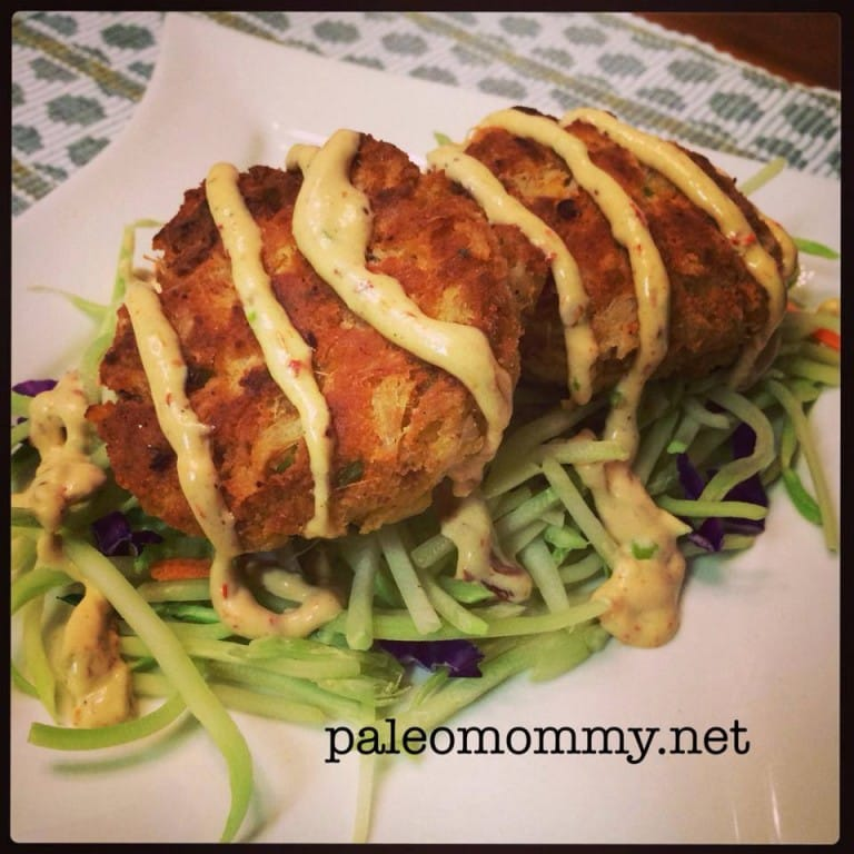 Scallion Crab Cakes With Spicy Mayo